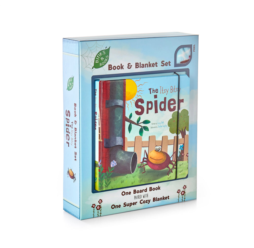 Itsy Bitsy Spider Book and Blanket Set, Binks & Books