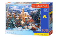 puzzel in karton 300 stuks sledding in town