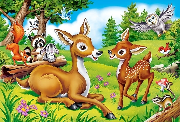 "puzzel in karton ""dear little deer"" 40 pcs MAXI"