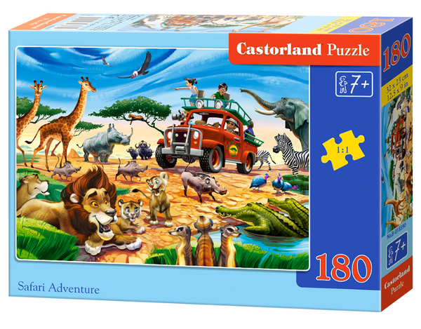 puzzel in karton 180 stuks safari adventures