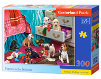 Puzzel in karton 300 stuks puppies in the bedroom