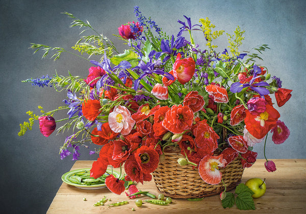 Puzzel in karton 500 stuks Bouquet with poppies