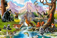 Puzzel in karton 260 stuks Forest Animals