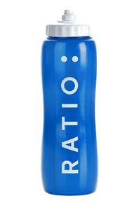 Blue sports water bottle
