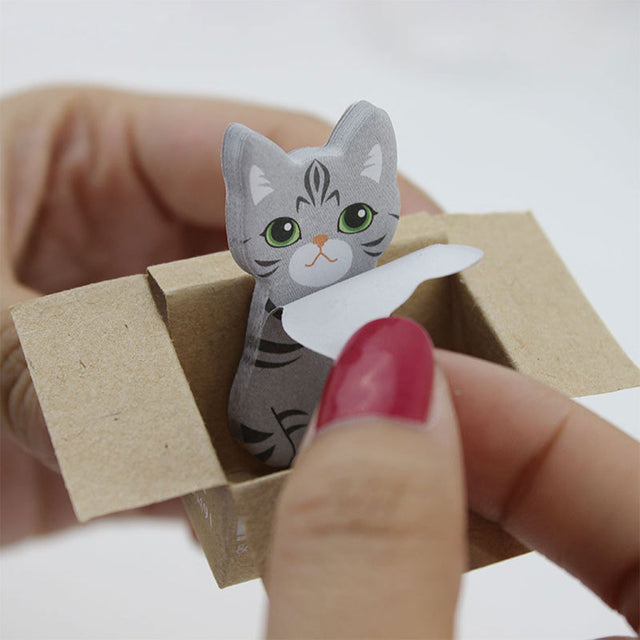 Cat Sticky Notes, kitty post its, cat memo pad, cute cats stationery