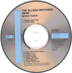The Allman Brothers Band : Seven Turns (CD, Album)
