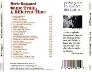 Merle Haggard : Same Train, A Different Time (CD, Album, RE)