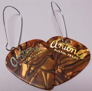 Antone's Guitar Pick Earrings - Bronze - Miscellaneous