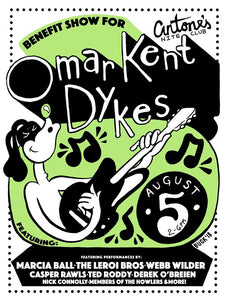 Omar Kent Dykes - Benefit Poster By Billie Buck - Poster