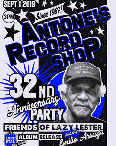 Antone's Record Shop 32nd Anniversary - Event Poster By Billie Buck - Poster