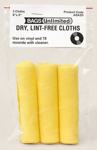 Bags Unlimited - Asa-2d 3 Pack Record Cleaning Cloth - Accessories