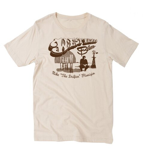 Mike Flanigin West Texas Blues, Cream, 2xl - T-shirt