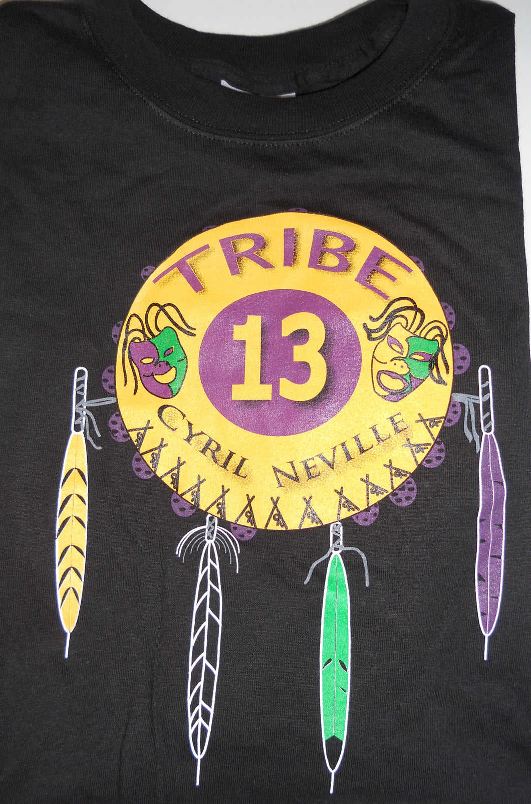 Cyril Neville Tribe 13, Black, Medium - T-shirt