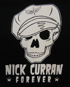 Nick Curran Forever Skull, Black, Women's Medium - T-shirt