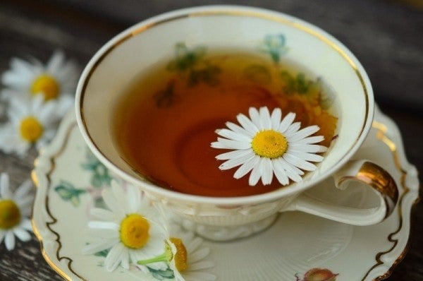 Chamomile tea which can help nausea