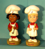Campbell's Soup Bobblehead boy and Girl