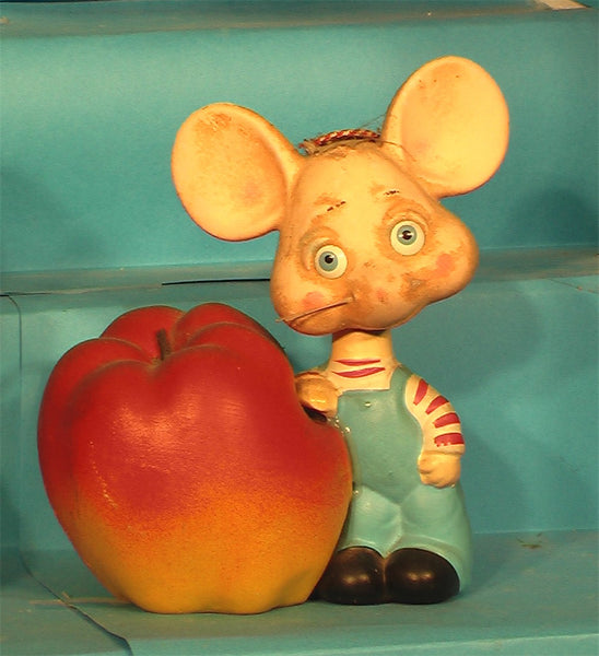 Vintage Apple bank bobblehead