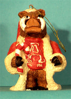 Arkansas Razorbacks '99 Mascot Christmas Ornament