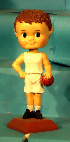 Basketball Boy Paintable Bobblehead