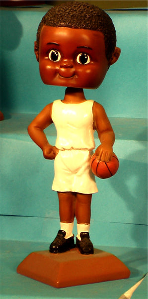 Basketball Boy African-American Paintable Bobblehead