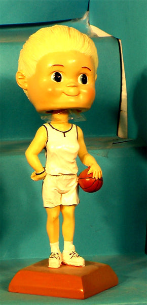 Basketball Girl Paintable Bobblehead (case 24)