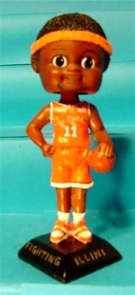 Basketball Boy African American Custom Painted Bobblehead