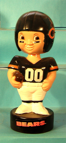 Chicago Bears  70's Plastic NFL football bobblehead