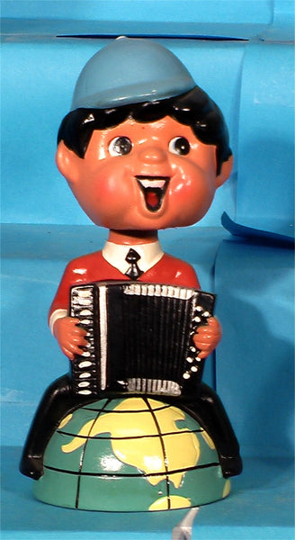 Vintage Beatle accordian bank bobblehead