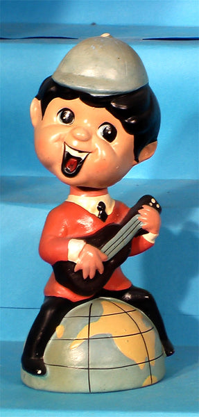 Vintage Beatle guitar bank bobblehead