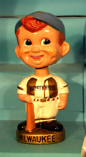 Vintage Milwaukee Brewers gold base bobblehead