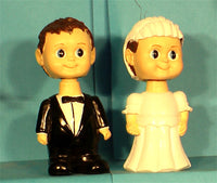 Bride and Groom Cake Toppers Bobbleheads