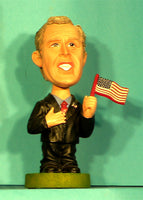 George Bush Bobblehead with flag