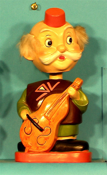 Vintage Cello player bank bobblehead
