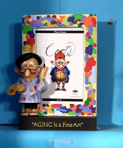 Coot Aging is a Fine Art Figurine Frame