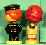 Vintage Kissing Cop Bobblehead
