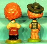 Vintage Kissing cowgirl bobbleheads