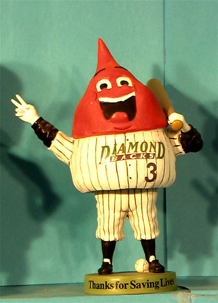Arizona Diamondbacks blood bank bobblehead
