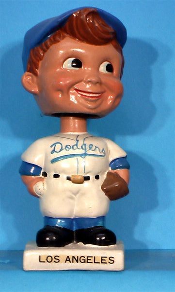 Vintage Los Angeles Dodgers White Base Bobblehead