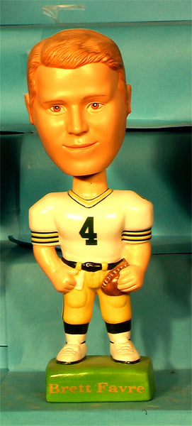 Brett Favre Green Bay Packers White Bobblehead