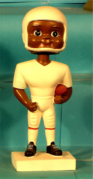 Football Boy African-American Paintable Bobblehead