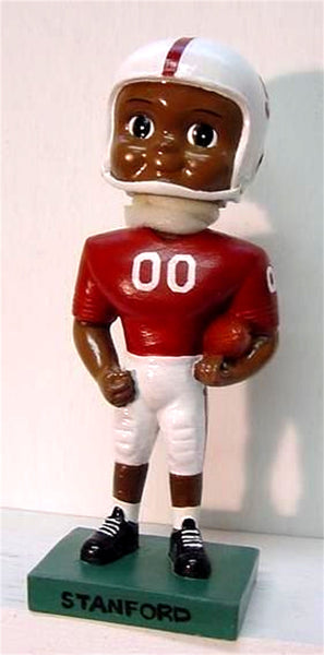 Football African American Custom Painted Bobblehead