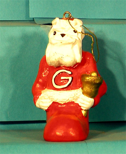 Georgia Bulldogs '00 NCAA Mascot Christmas Ornament