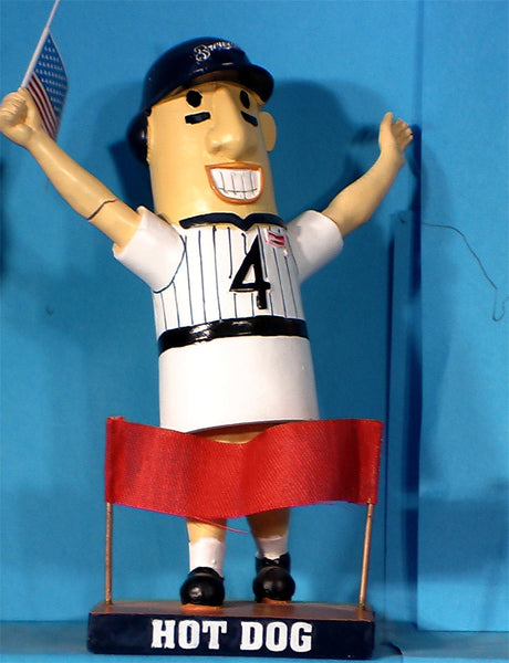 Milwaukee Brewers Racing Hot Dog bobblehead