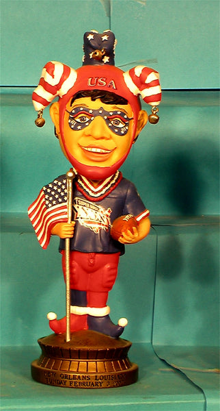 Super Bowl red Jester bobblehead