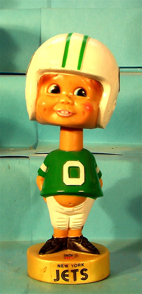 New York Jets  70's Plastic NFL football bobblehead