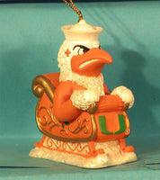 Miami Hurricanes '01  NCAA Mascot Christmas Ornament