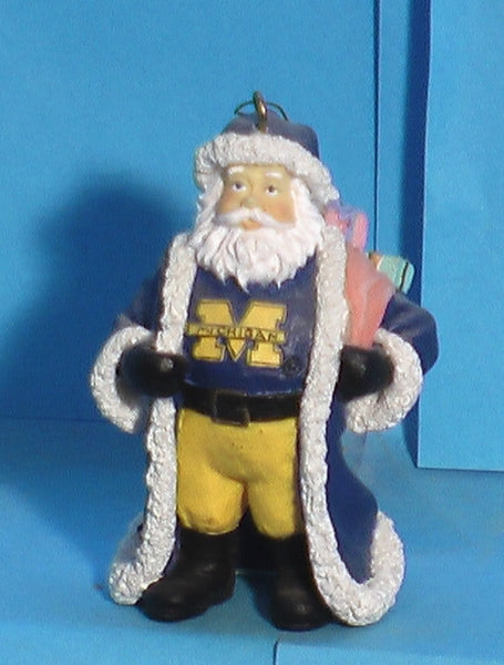 Michigan Wolverines Mascot Christmas Ornament Santa