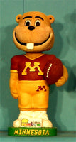 Minnesota Golden Gophers Mascot Goldy football bobblehead