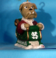 Mississippi State Bulldogs '01 NCAA Mascot Christmas Ornament