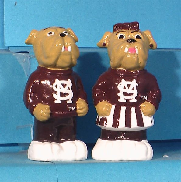 Mississippi State BulldogsMascot Salt & Pepper Shakers